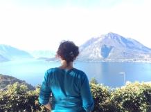 Blick auf den Comer See von Perledo aus