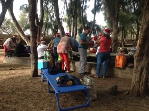 Picknick am 2. Weihnachtsfeiertag, Playa de la Aldea