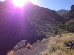 Sonne in den Bergen Gran Canarias