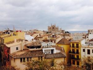 Palma de Mallorca vom Museum Es Baluard aus gesehen