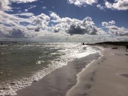 Bornholm per Rad: Strand bei Duodde