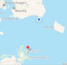 Von Sassnitz nach Trelleborg über Ystad nach Rönne