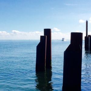 Schiffsroute Amrum-Sylt