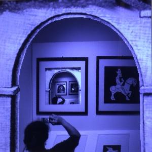 Droste-Effekt in der Maurits Cornelis Escher Ausstellung in Milano