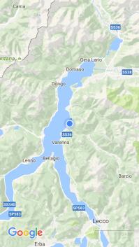 Der Lago die Como verzweigt sich nach Süden hin.