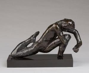 Auguste Rodin: Tanzstudie I um 1911, Bronze, 15,3x24x8,3 cm, Musée Rodin, Paris.