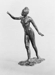 Edgar Degas: Tänzerin, große Arabaeske, erste Position, 1882-1895, Bronze, 49 x 38,5 cm Musée d'Orsay, Paris.