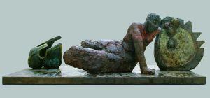 Bezug auf Henry Moore von Markus Lüppertz: Der Krieger,1993