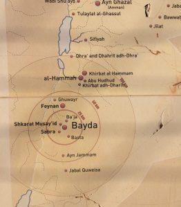 Lage von Bayda in Jordanien