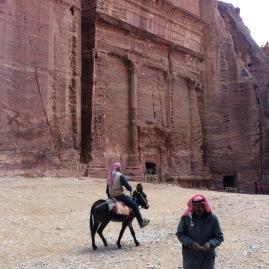 Beduinen in der Felsenstadt Petra