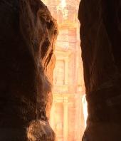 Ankunft in Petra: das sogenannte Schatzhaus
