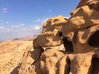 Bizarre Sandstein-Formationen im Mujib Naturreservat in Jordanien