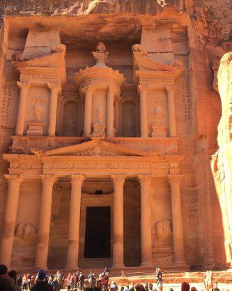 Imposanter erster Eindruck von Petra: das Schatzhaus