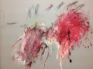 Cy Twombly: Detail aus der Commodus-Serie.