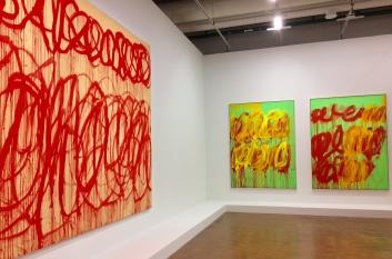 Cy Twombly im Centre Pompidou Paris, Hängung