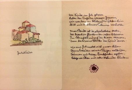 Hermann Hesse, Gedicht und Zeichnung