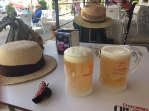Auch erfrischend: Belohnungs-Drink in Trevelez