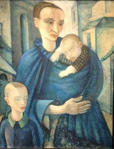 Sicher nicht unbeeinflusst von Picassos blauer Phase: Frau in Blau von Anita Rée