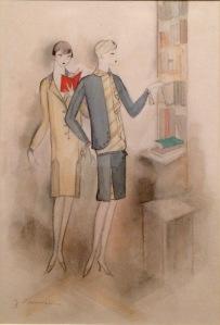 Jeanne Mammen, Zeichnung für ein Modemagazin