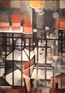 Jeamme Mammen, Caféterrasse im KaDeWe, kubistisch inspiriert