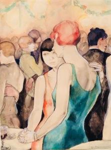 """Aus der Serie """"Bilitis"""", 1930 - 32, Farblithographie von Jeanne Mammen"""