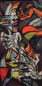 """Jeanne Mammen greift den Würgeengel von Picassos Werk """"Guernica"""" als Motiv auf"""