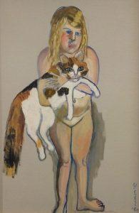 Neel malte ihre Enkelin Victoria mit Katze