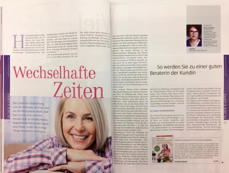 Die Kosmetikerin als Begleiterin durch die Wechseljahre, Kosmetik International 01/2018