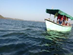 Delfintour auf dem Mandovi River